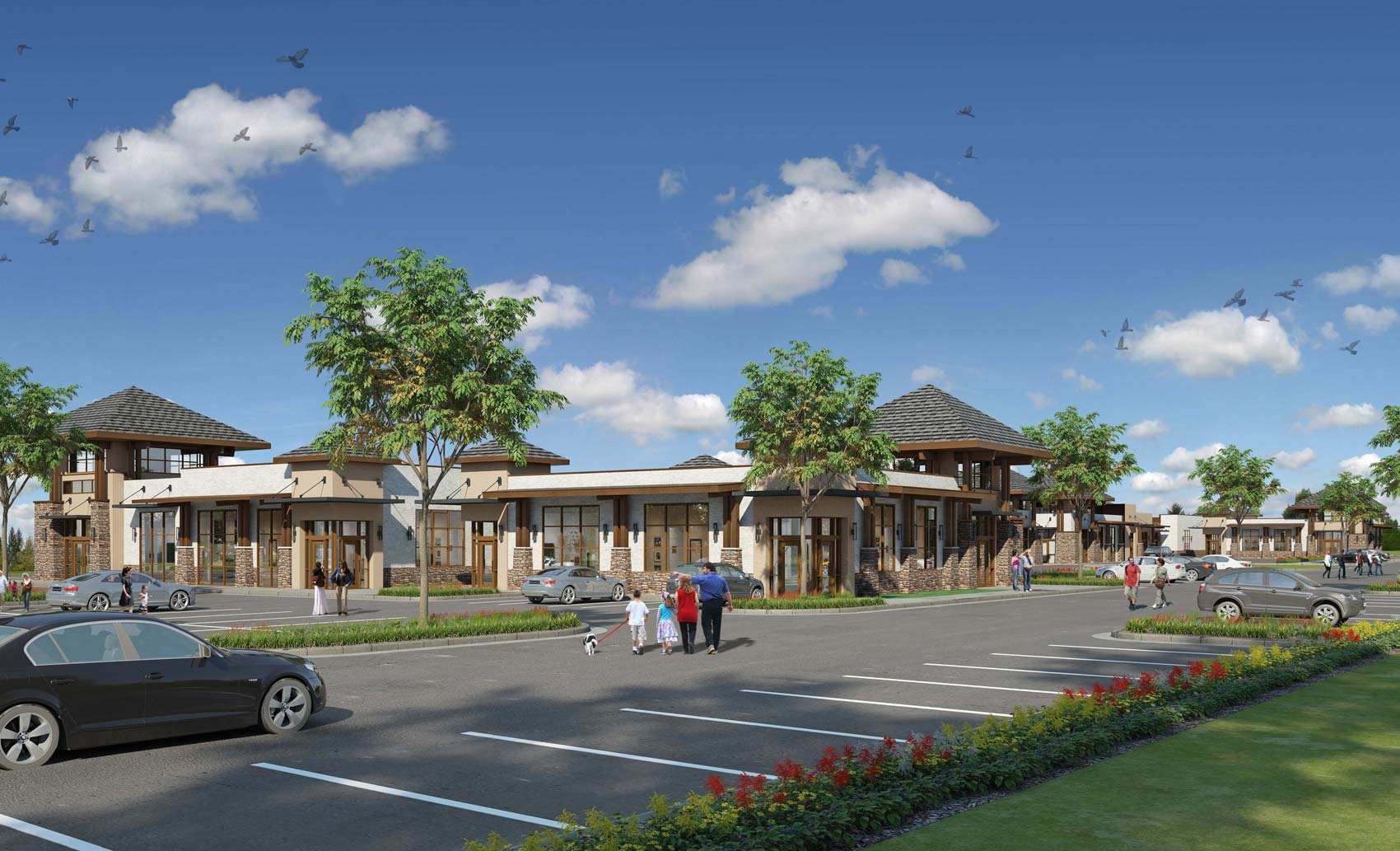 Rendering of The Village at Malcom Bridge